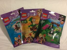 NEW LEGO 3x SEALED FOIL PACKS FRIENDS 41047+41048+41049