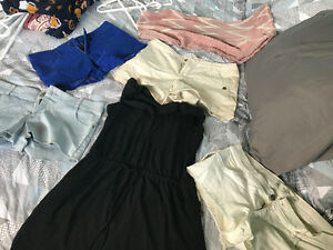 Lot of women's like new shorts, dress and scarf