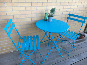 Cute Blue Patio Table for Two Kitchener / Waterloo Kitchener Area image 1