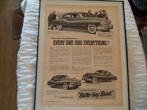 OLD BUICK  CLASSIC CAR FRAMED AD Windsor Region Ontario image 7