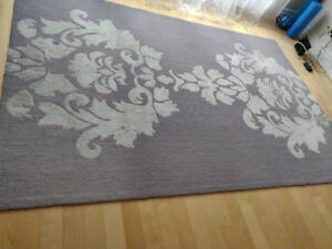 Tapis damask 6*9 en cotton et laine