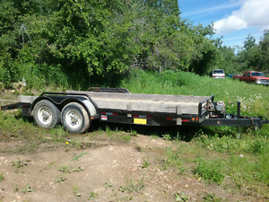 """16'0"""" 14,000 lbs Trailer with Dovetails and Ramps"""