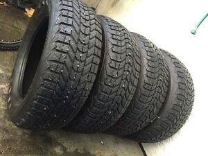 Set of four 215/60/16 Winterforce winter tires