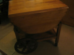 Vintage rolling table