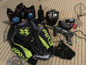 Paintball Tippman Gun, Mask, and Equipment - Great Condition