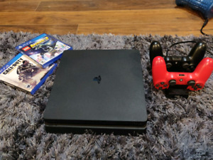 PS4 - Playstation 4 Slim + Fifa 19 +  Free Online Game Play