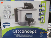 Cat litter box/bed and playground all in one