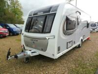 2018 Elddis Supreme 550 fixed island bed family caravan with fitted motor mover