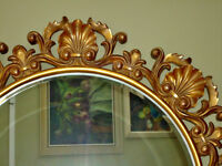 ROUND BAROQUE MIRROR
