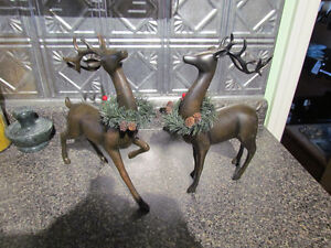 two ceramic reindeer