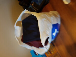 Bug bag of women's clothes
