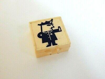 Vintage Plastic Bakelite? Police Officer Miniature Trinkit Treasure Box Tooth ()