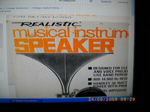 Realistic horn speakers