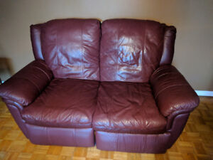 Reclining Loveseat sofa leather