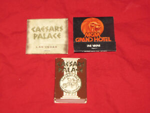 Vegas Caesar's Palace & MGM matchbooks/box from 1980s*