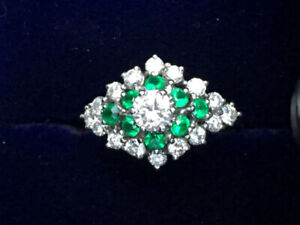 Birk's Diamond and Emerald Ring