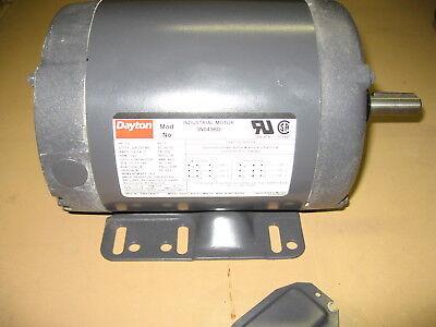 Dayton 3n043bd Electric Motor 3 Ph 1 Hp 1725 Rpm 208-230460 Vac 56h Frame