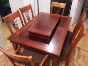 Set cuisine 6 chaise et panneau