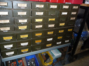 Bolt and nut cabinet and contents