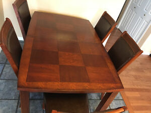 9 piece solid wood Dining room set