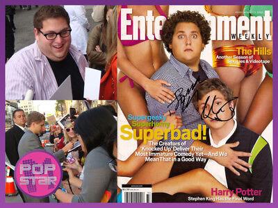 Jonah Hill Michael Cera Signed Superbad Magazine Coa