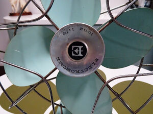 1960s retro ELECTROHOME DESK FAN aqua metal INDUSTRIAL Kitchener Kitchener / Waterloo Kitchener Area image 2