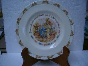"1993 ROYAL DOULTON ""BUNNYKINS CELEBRATE YOUR CHRISTENING"" PLATE"