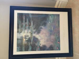Claude Monet print framed