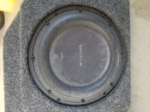 2 Rockford 10inch subs box and amp