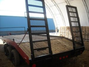 Trailer ramps made for heavy duty trailer