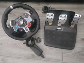 Logitech g29 steering wheel playstation / Gaming PC