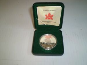 2001 Proof Canadian 92.5% Silver Dollar in Case