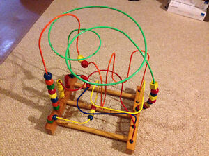 Deluxe wire and bead toy