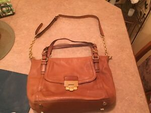 Michael Kors tan leather purse