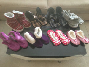 8 Pairs of Slippers/Booties only $10