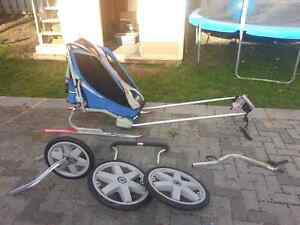Chariot Stroller with bike and jogging attachments.
