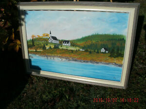 """OIL PAINTING BY LOCAL ARTIST GARY COX. 24"""" HIGH X 36"""" WIDE."""