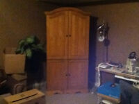 Solid wood Broyhill Armoire/TV unit