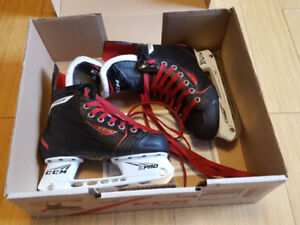 As new and in box CCM RBZ kids / youths skates size 1