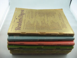 Eight Issues of Vintage 1946 Reader's Digest - Post WWII Topics