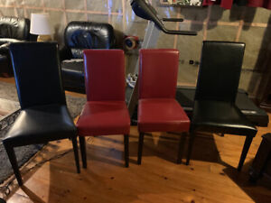 Brand new (4) Leather dinning room chairs