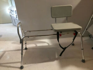Banc transfert coulissant et pivotant - Transfer bench swivel