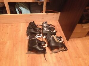 4 pairs of boys figure skate