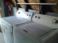 EXTRA LARGE KENMORE (washer & dryer) -WHIRLPOOL - JUST MOVED Wat