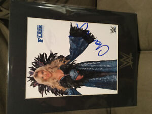 WWE Autographed Charlotte Flair Picture Wrestling