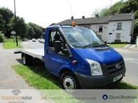 FORD TRANSIT 350 E-F DRW RECOVERY TRUCK, White, Manual, Diesel, 2011 120K MILES
