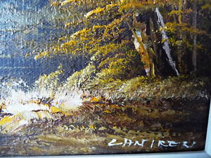 """Original Oil Painting by Phillip Cantrell """"Slow River Afternoon"""" Stratford Kitchener Area image 5"""