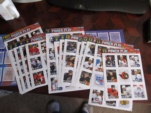 2002/03 nhl power play sticker book and stickers