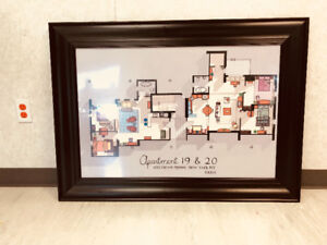 Brand New! From the TV show Friends - Apartment Blue Print