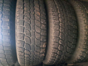 245 75R16 Wintercat tires with sensors on rims